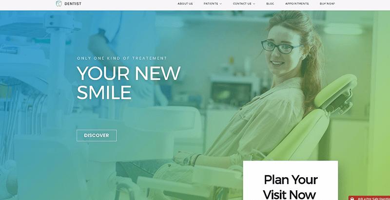 Dentistwp themes wordpress creer site web clinique sante hopital centre santé