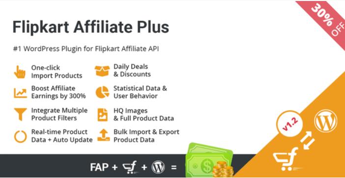 Flipkart affiliate plus affiliate product management plugin