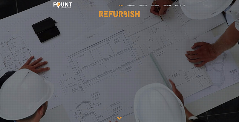 Fount themes wordpress creer site internet entreprise agence startup pme