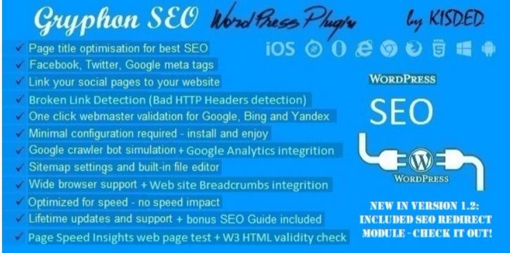 plugins WordPress de SEO pour optimiser le référencement de votre site web -Gryphon seo tools