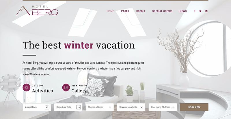 Hotel california themes wordpress creer site web hotel motel auberge
