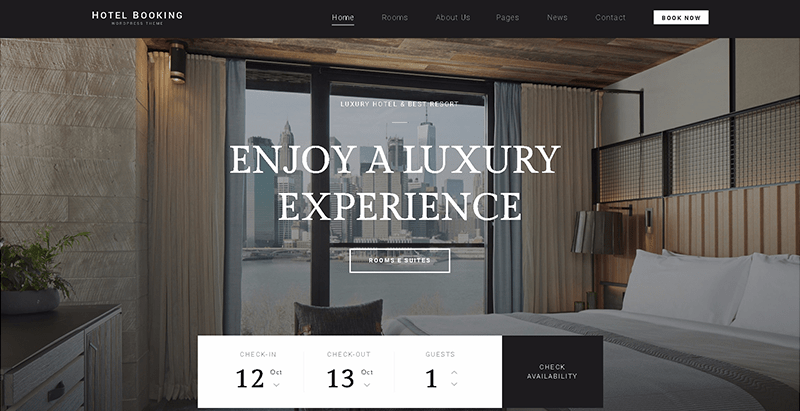Hotel booking themes wordpress creer site web hotel auberge motel voyages
