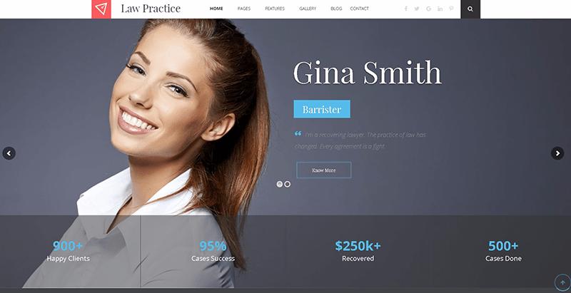 Law practice themes wordpress creer site web avocat notaire procureur