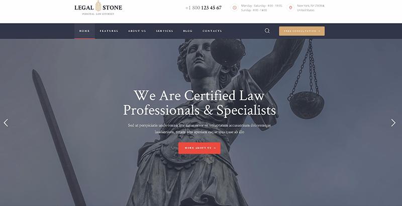 Legal stonethemes wordpress creer site web avocat notaire procureur