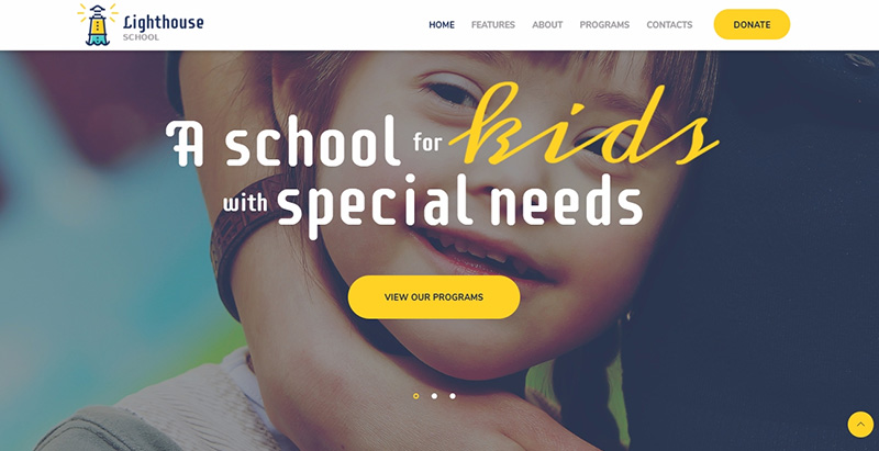 Lighthouse themes wordpress creer site internet e learning universite college ecole