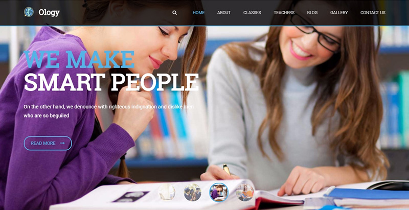 Ology Themes Wordpress Creer Site Internet E Learning Universite College Ecole