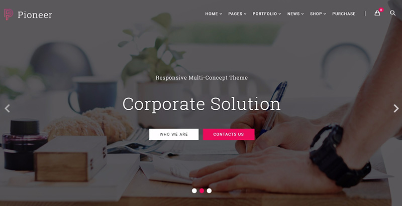 Pioneer themes wordpress creer facilement site web entreprise agence startup