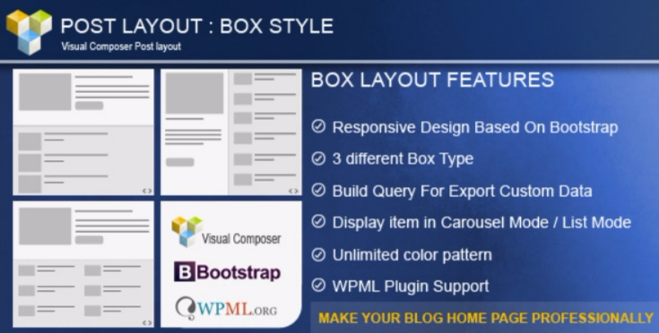 Post layout box style