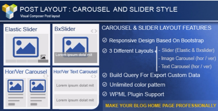 Post layout carousel slider