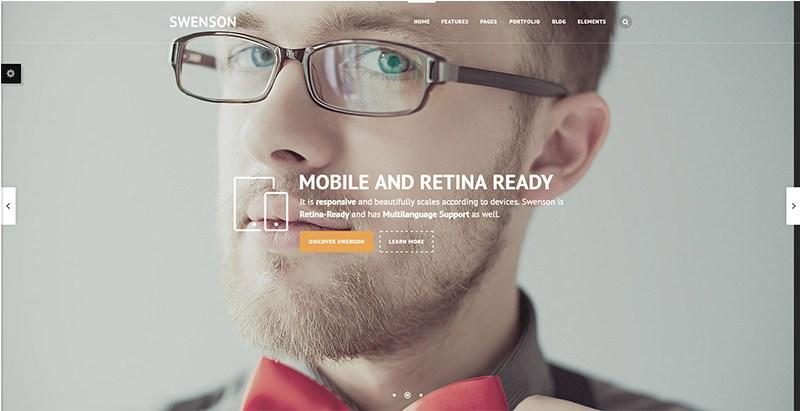 Swenson themes wordpress creer site internet onepage