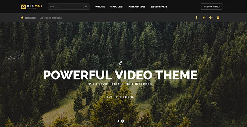 Truemag theme wordpress site internet multilingue
