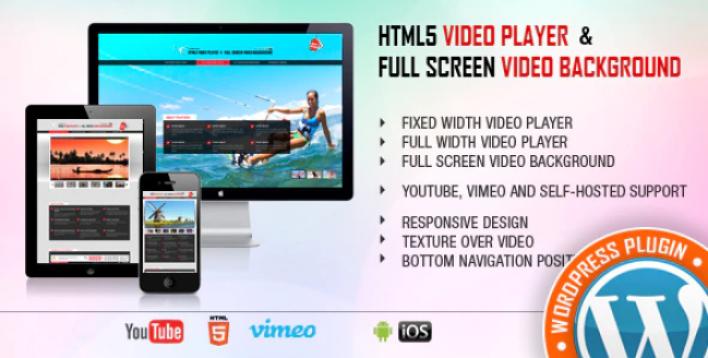 Video Player FullScreen Video Background WP Plugin wordpress