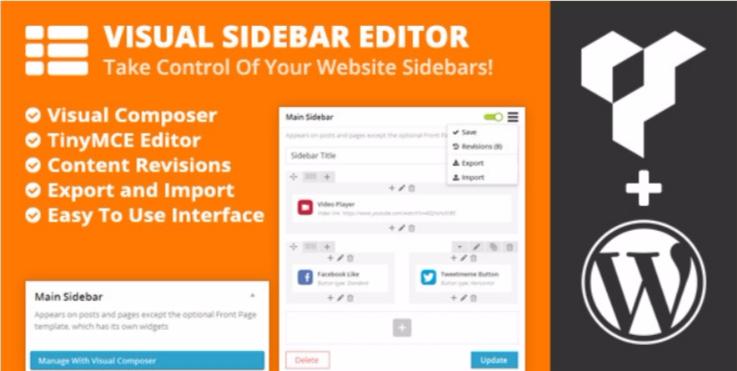 Visual sidebar editor
