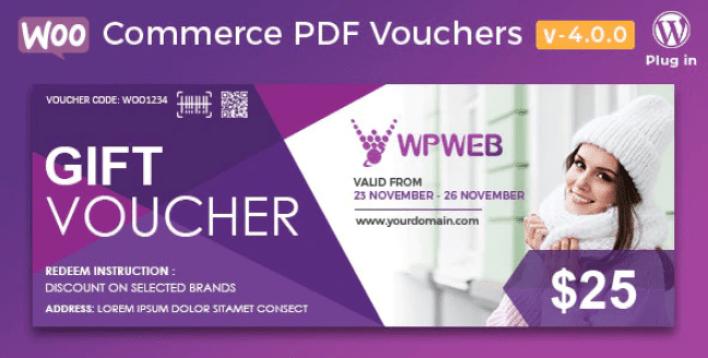 Woocommerce pdf vouchers wordpress plugin