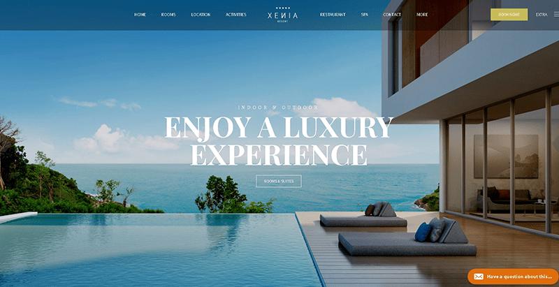 Xenia themes wordpress creer site web hotel motel auberge