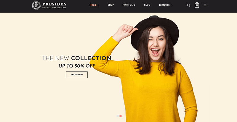 Presiden themes wordpress creer boutique en ligne vetements site ecommerce