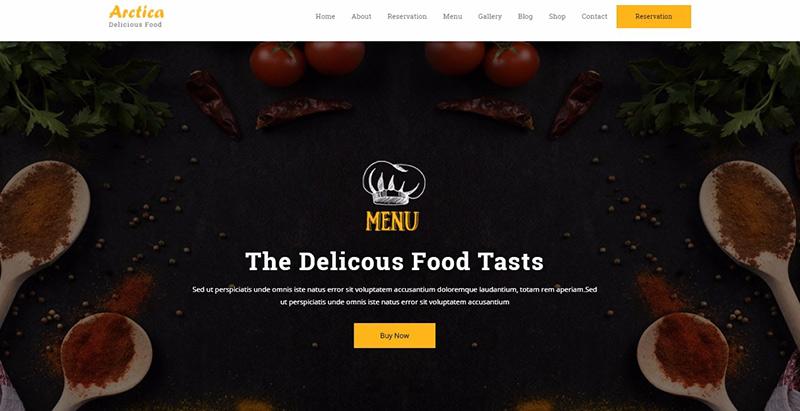 Arctica themes wordpress creer facilement site internet restaurant