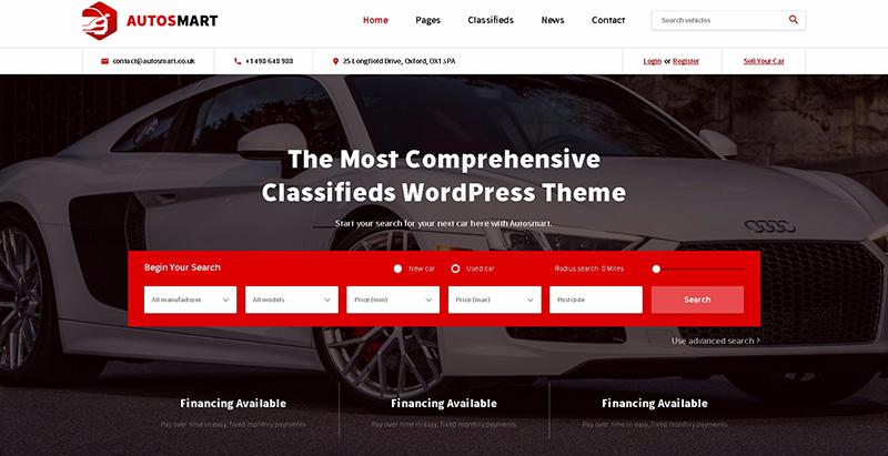 Autosmartthemes wordpress creer site internet concessionnaire automobile garage mecanicien
