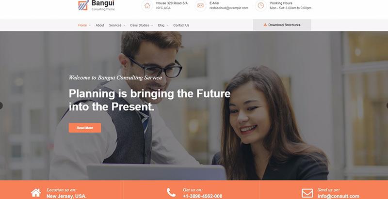 Bangui themes wordpress creer site web agence entreprise pme