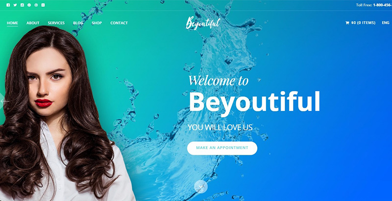 Beyoutiful Themes Wordpress Creer Site Internet Salon Beaute Spa Coiffure