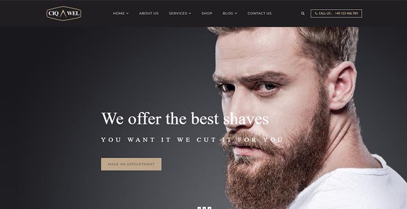 Cigawel themes wordpress creer site internet salon coiffure