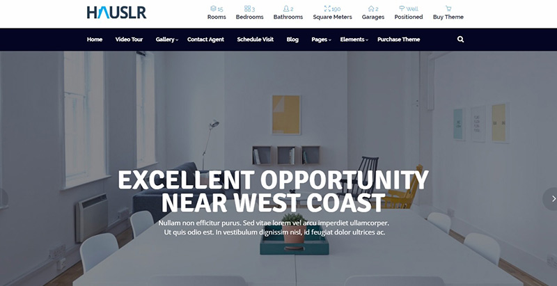 Hauslr themes wordpress creer site internet entreprises immobilieres