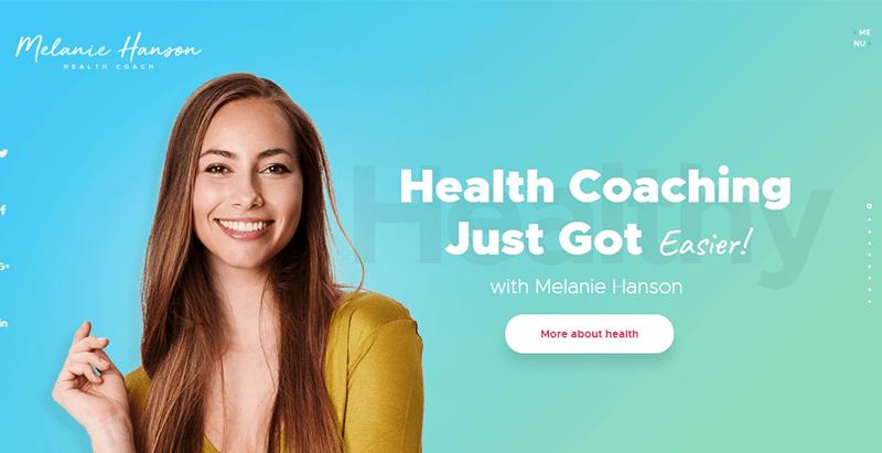 thèmes WordPress de coach de santé - Health coach