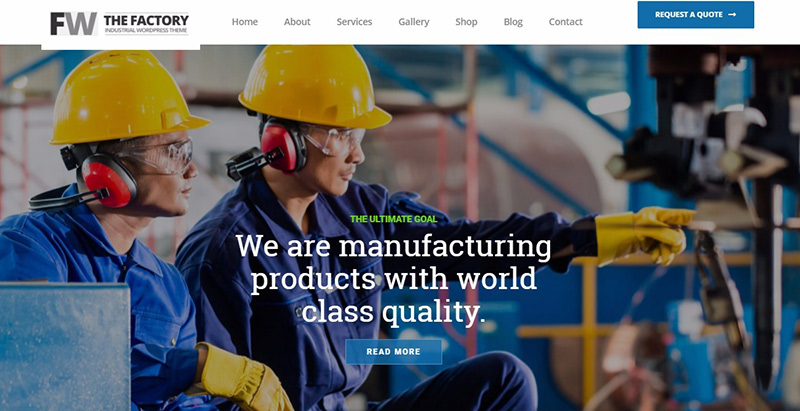 Industrial themes wordpress creer site internet entreprise startup agence pme