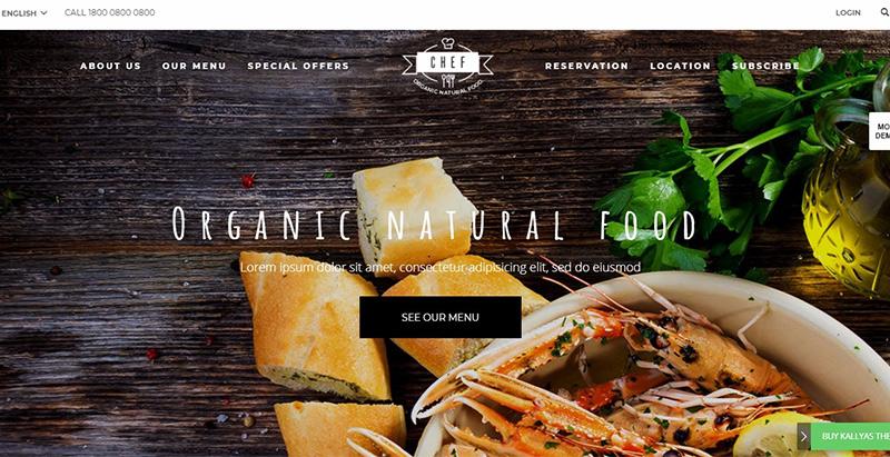 Kallyas themes wordpress creer site internet recettes cuisine blog recette