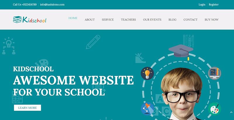 Kidschool themes wordpress creer site internet educatif e learning