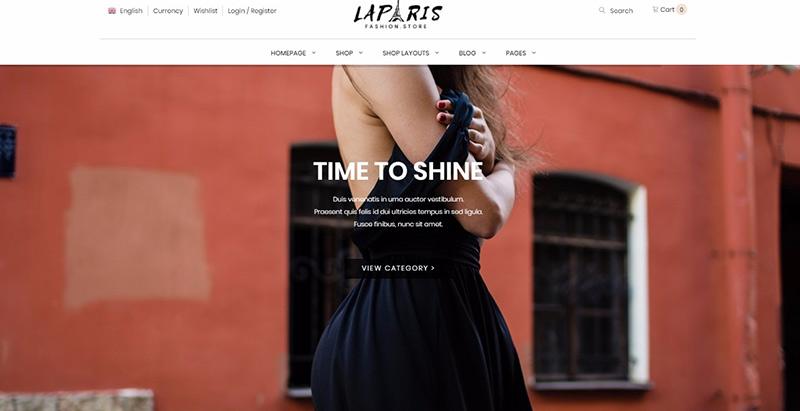 Laparis themes wordpress pour aider vendre internet ecommerce boutique ligne