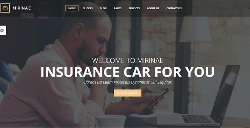 Temas de 10 WordPress para crear un sitio web de seguros | BlogPasCher