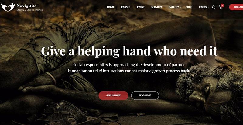 Temas de WordPress para crear un sitio web de organización religiosa ...