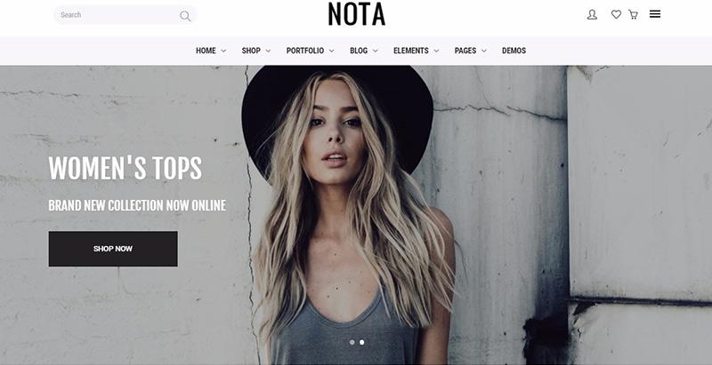 Nota themes wordpress creer site internet photographe portfolio image