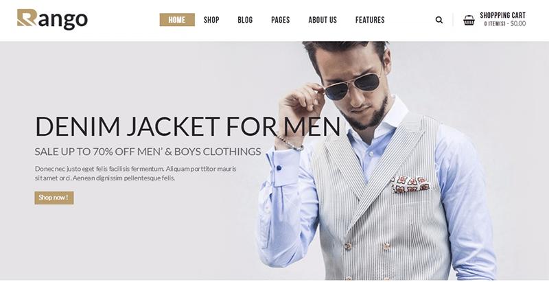 Rango themes wordpress creer boutique en ligne e commerce woocommerce