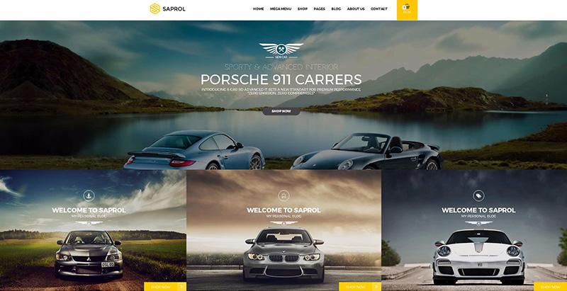 Saprolthemes wordpress creer site internet concessionnaire automobile garage mecanicien