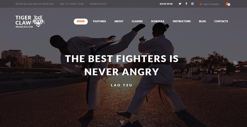 Temas de garra de tigre wordpress criar website clube fitness ginásio esporte equipe