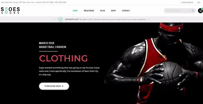 Trueshoes themes wordpress creer boutique ligne vetements mode fashion