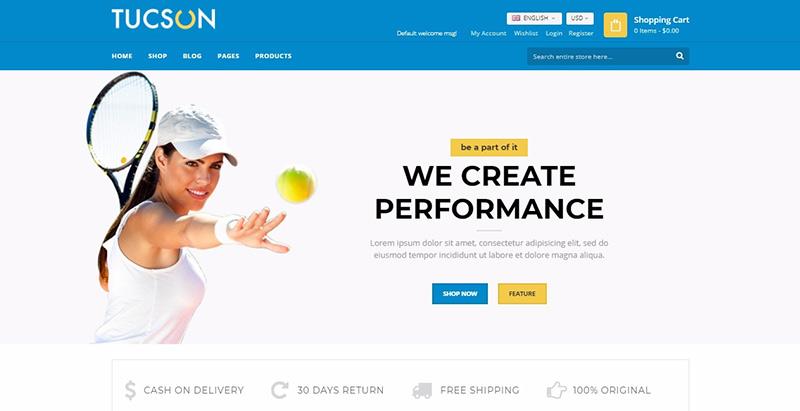 Tucson themes wordpress creer site ecommerce boutique en ligne