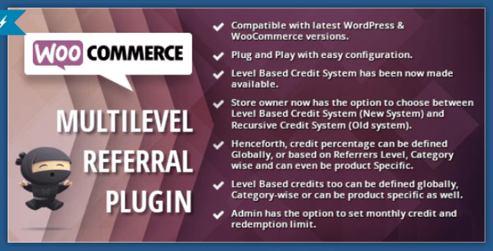 Woocommerce multilevel referral affiliate plugin wordpress