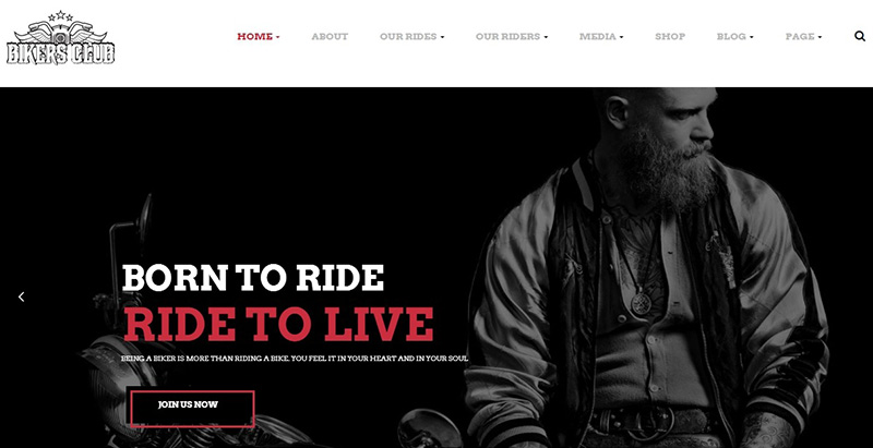 Bikers club themes wordpress creer site ecommerce boutique en ligne