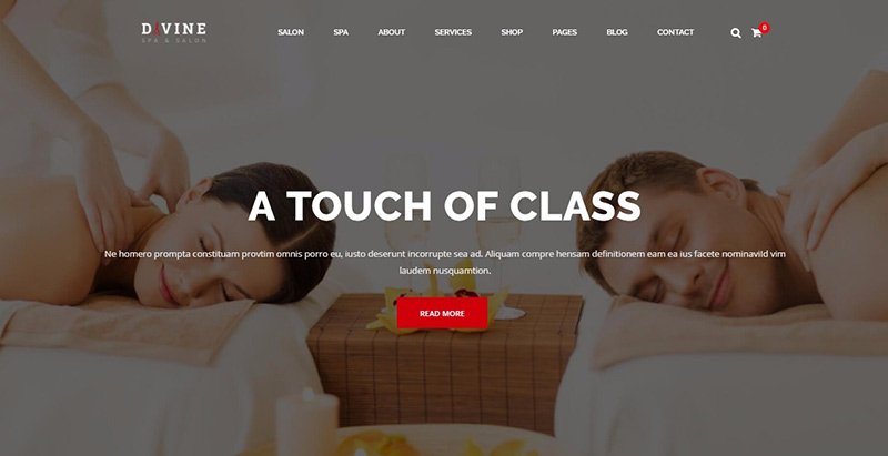 Göttliche Themen WordPress erstellen Website Internet Spa Salon Massage