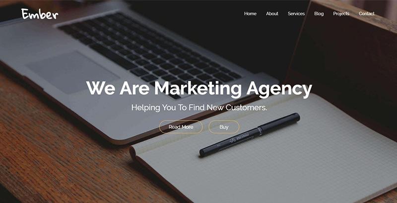 Ember themes wordpress creer site web agence marketing entreprise