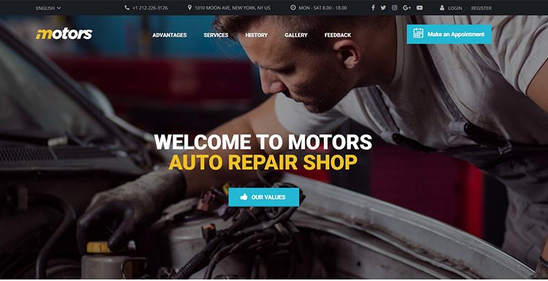 Motors demo 2 garage mecanicien