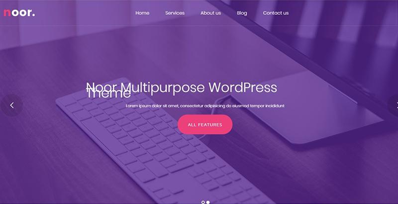 Noor themes wordpress creer site web agence marketing entreprise
