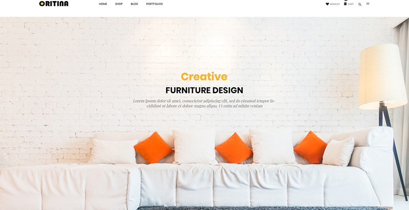 Oritina themes wordpress creer site ecommerce boutique en ligne