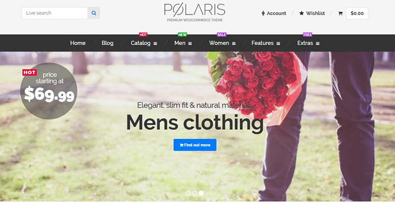 Polaris themes wordpress creer marketplace