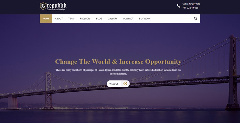 Republik themes wordpress creer site internet parti politique