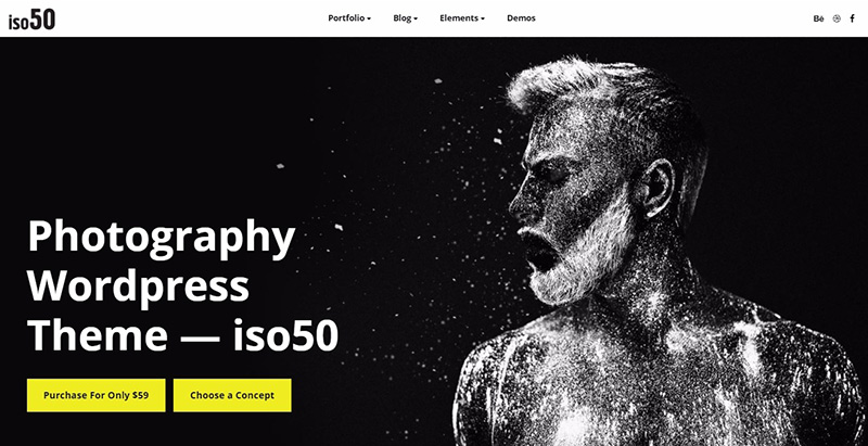 Iso50 themes wordpress creer site web photographe