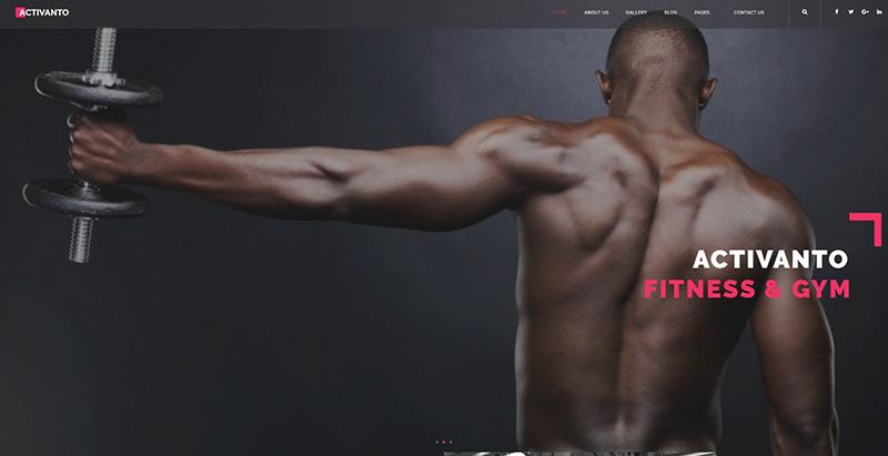 Activanto themes wordpress creer site web salle fitness